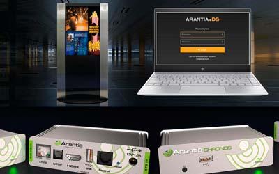 Incorporamos la solución de cartelería digital de ArantiaDS (Televes)